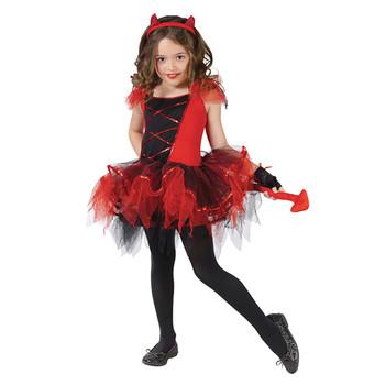 Vestido Trajes De Halloween Para Niños De Las Niñas Rojo Halloween Traje De Diablo Buy Disfraces De Disfraces Para Niños Halloweendisfraz Del