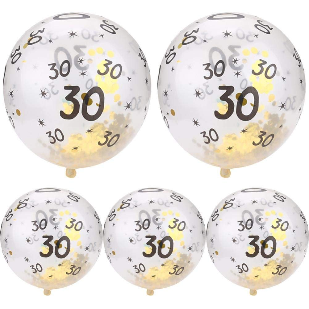 Cheap Number 30 Balloons Find Deals On Line At Baloon 5pcs Set Gold Confetti Filled 30th 40th 50th Latex Proposal Anniversary Wedding Decoration