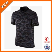 OEM service top quality camo polo t shirts wholesale cotton camouflage mens blouse