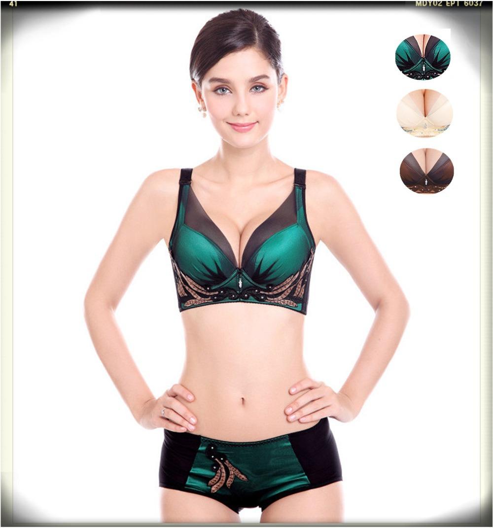 a807e51e2a2 women bra briefs set 3 4 cup summer style 2015 sexy lace push up bras panty  set plus cup size brand bra sexy underwear brief set