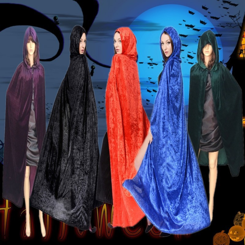 Excellent Quality Halloween cloak Hooded Robe Cosplay Cloak Vampire Cape