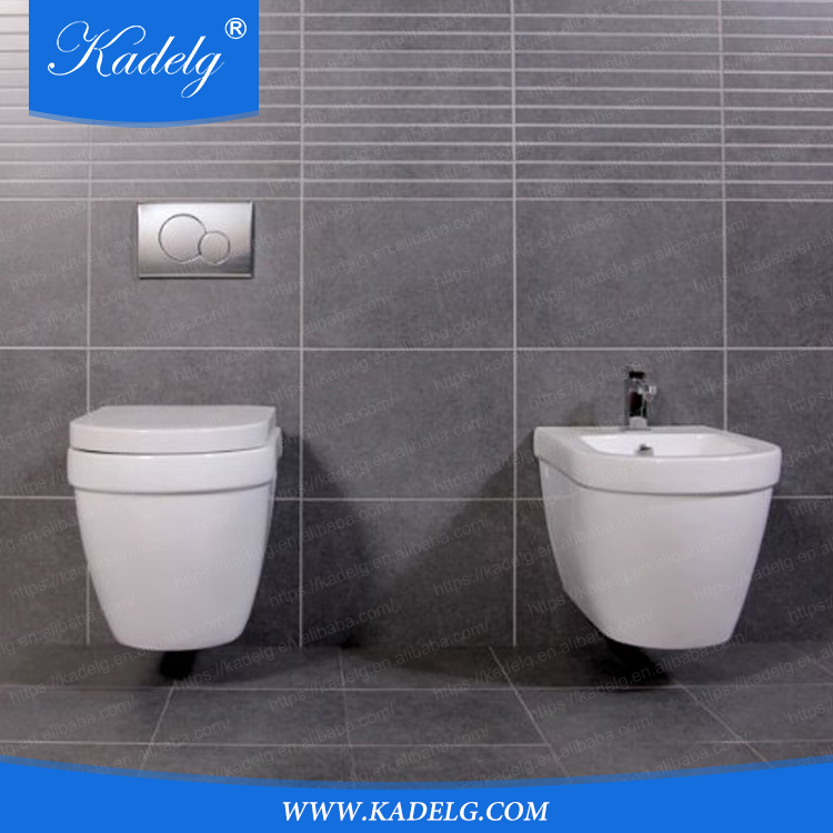 Bathroom Sets Sanitary Engineering Back to Wall Bidet Toilet Germany