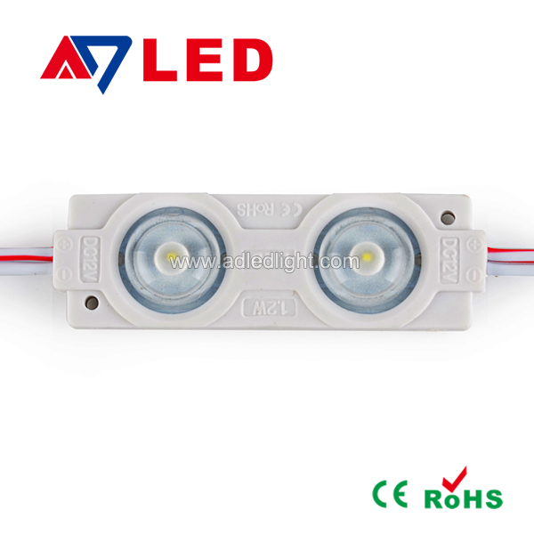 Waterproof outdoor Everlight 12V 1.2W SMD3528*2 Injection LED modules light for channel letter lighting