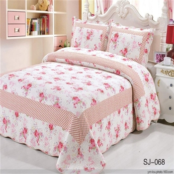 100 Cotton Red Flower Printed Wholesale Bed Sheets