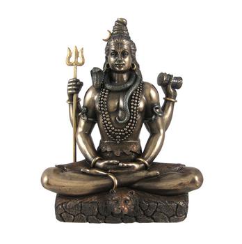 Lord Shiva In Padmasana Lotus Pose Statue Hindu Buddha Statue