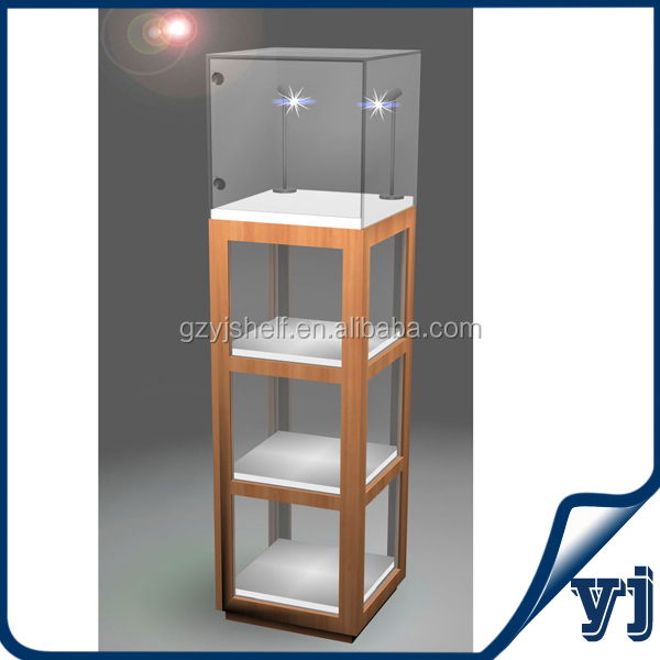 Cheap Small Glass Display Cabinet Design/Designed Shop Display Cabinet  /Commercial Store Retail Display