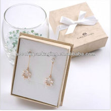 2012 new hot sale luxury nice paper earring jewelry wedding ring boxes with sponge insert