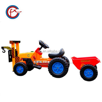 Kids Ride On Toy Crane Children Electric Tractor Toy Car 617
