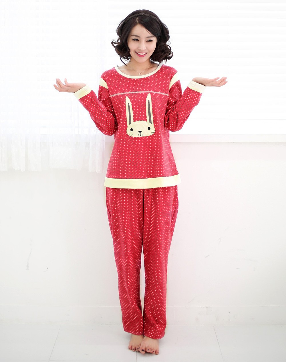 lovely rabbit fashion Women spot Pajama casual pajamas fashion animal pajamas