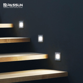 Modern indoor home fancy 1w foot lamp recessed led step lights stair wall light