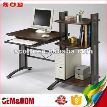 Best Quality Standard Size Wooden Computer Desk With Bookshelf