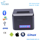 Wireless pos machine 80mm thermal receipt printer for barcode label printing for Windows and Linux driver