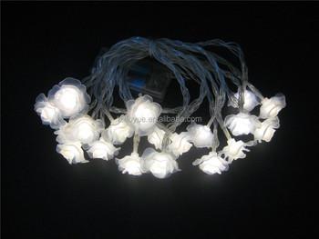 20 milk white rose battery operated light christmas lights festival battery lightsindoor