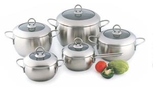 SA-12042 Stainless steel cookware set Apple shape cookware induction kitchenware pot German cookware