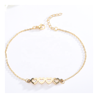 ST10039 Fashion Gold Plated Adjustable Women Stainless Steel Female Chain Bracelet