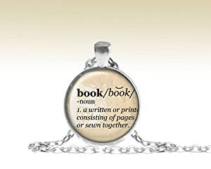 Book Pendant, Book Necklace, Literary Quote Necklace, Dictionary Pendant Necklace, Book Defined Necklace, Dictionary Jewelry