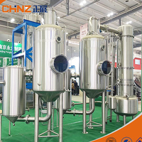 Energy saving double effect industrial stainless steel vacuum forced circulation evaporator