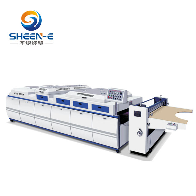 SYSG-1200A uv coating/olie coating machine voor papier