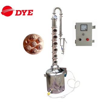Home brew copper electric alcohol reflux distiller with 6 copper still column plates