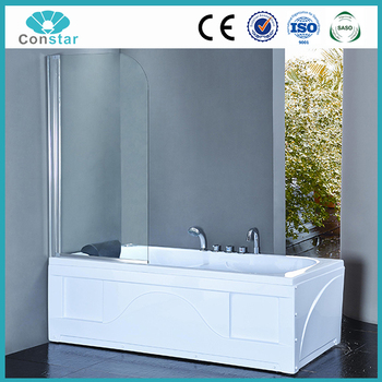 Bathtub Screen Showers, 5mm Shower Water Proof Bath Fold Shower Screens