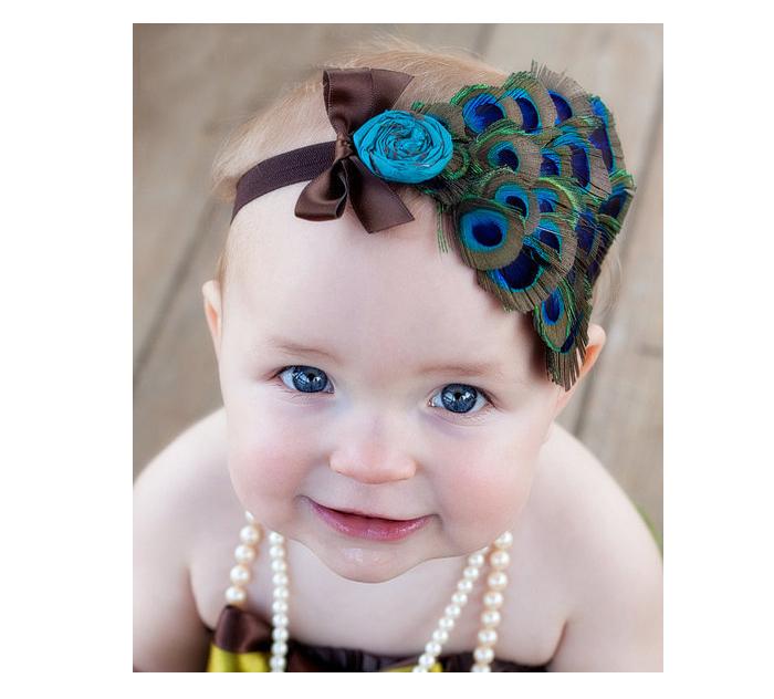 para bebs amour diadema de plumas para las nias encantador de la moda accesorios de