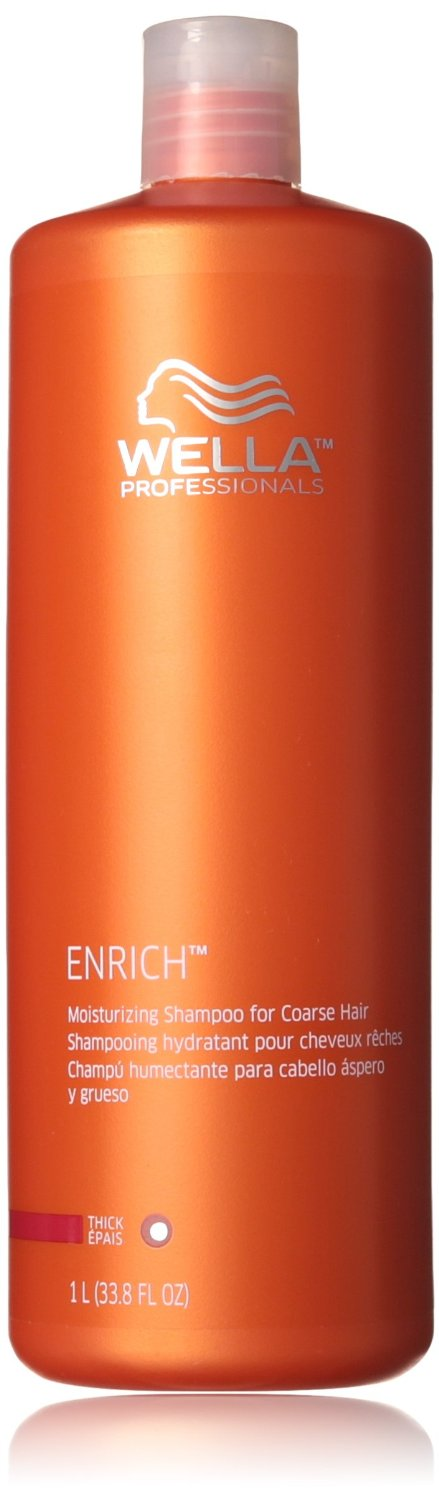 Wella Enriched Moisturizing Shampoo for Unisex, Coarse Hair, 33.8 Ounce