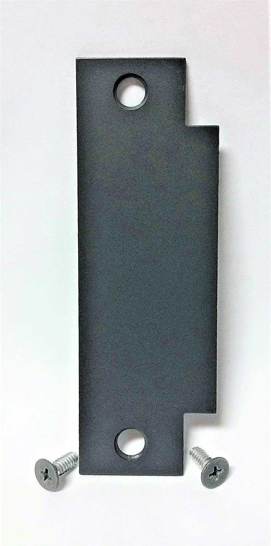 "Door Filler Plate | Strike Plate Filler | For Cylindrical Lock Latch Prep | 1 1/4 x 4 7/8"" | Latch Repair | Door Hardware | Mortise Cover | Edge Filler Plate | Prime Coat | Tuff Strike"