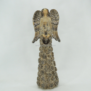 Christmas Wooden Angel Wings Garden Figurines12 Inch
