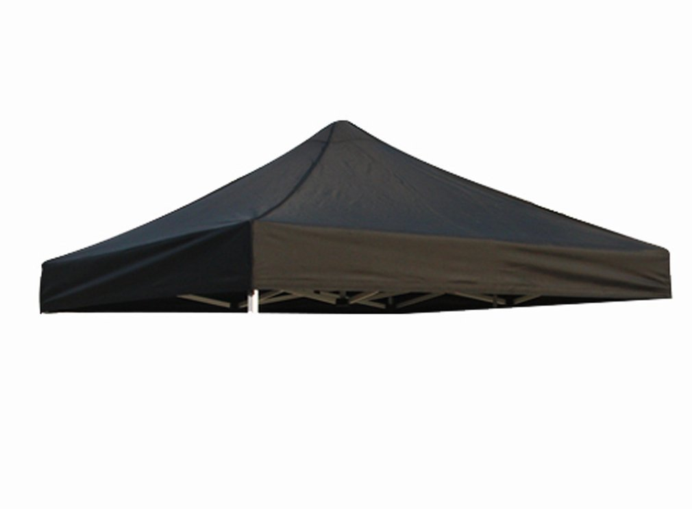 Eurmax New Pop Up 10X10 Replacement Instant Ez Canopy Top Cover (Black)