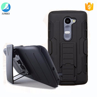 New arrival dual layer silicone pc cell phone case kickstand case For LG C40
