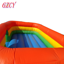 Rainbow mini inflatable bouncers/cheap indoor trampoline kids