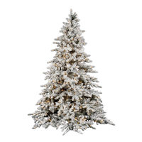 "Flocked Utica 7.5' x 65"" Fir Flocked White PVC automatic Christmas Tree with Dura Lit LED Lights"