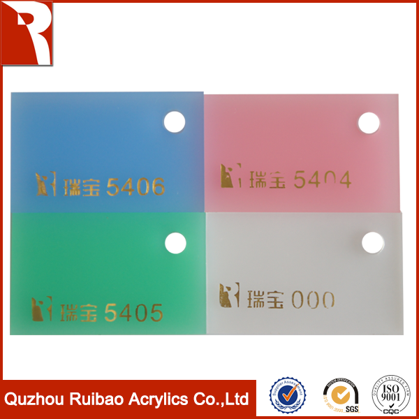 rpoa factory direct sale light weight frosted acrylic sheet white