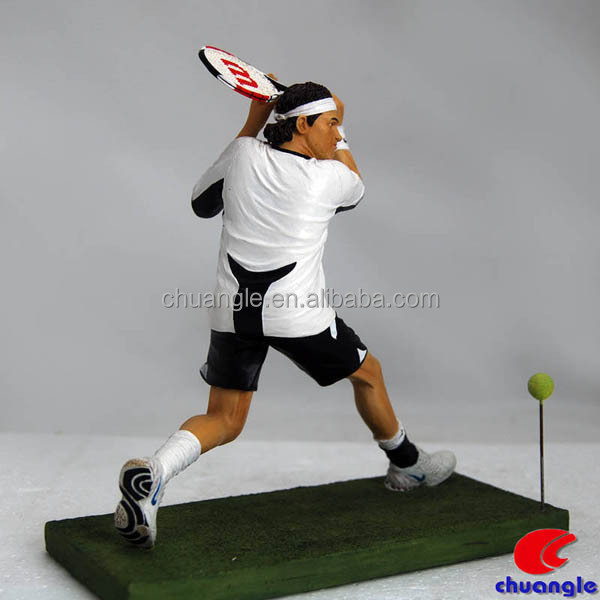 Tennis Figurines Roger Federer Statue Sports Figure