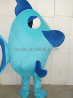 HI CE movie character blue fish mascot costume for adult ,good quality mascot costume