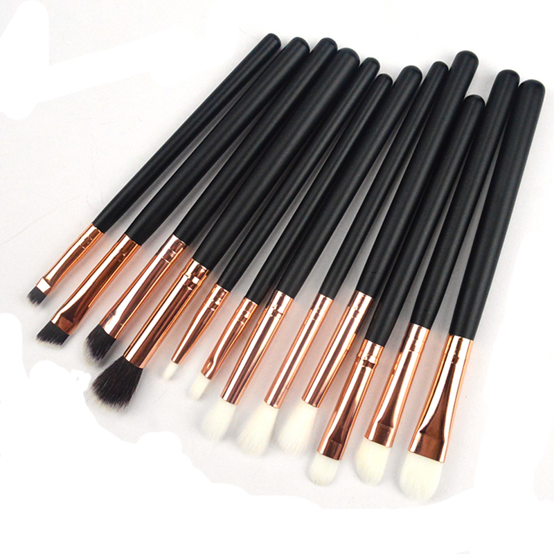 12pcs billige kosmetische lidschatten eye pinsel set make-up pinsel