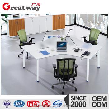 Moderne modulare büromöbel  Hersteller China 120 Grad Moderne 3 Person Modulare Büromöbel ...