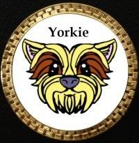 Ball Barkers Yorkie Golf Ball Marker Single Ball Marker Only