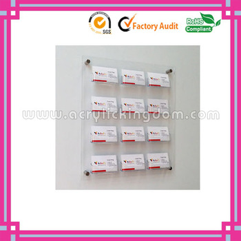 12 pockets clear custom wall mounted acrylic business card holder 12 pockets clear custom wall mounted acrylic business card holder manufacturer colourmoves