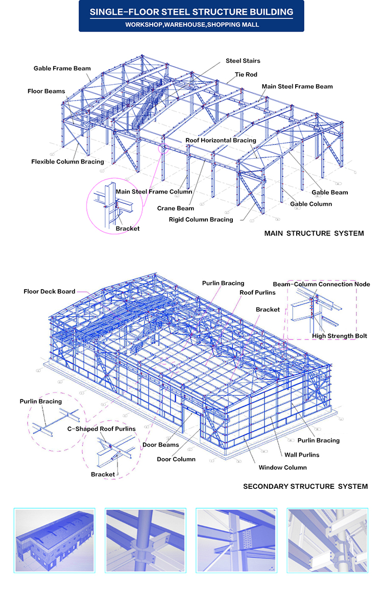 Prefabricated steel structure school university building, high rise prefab house designer and manufacturer