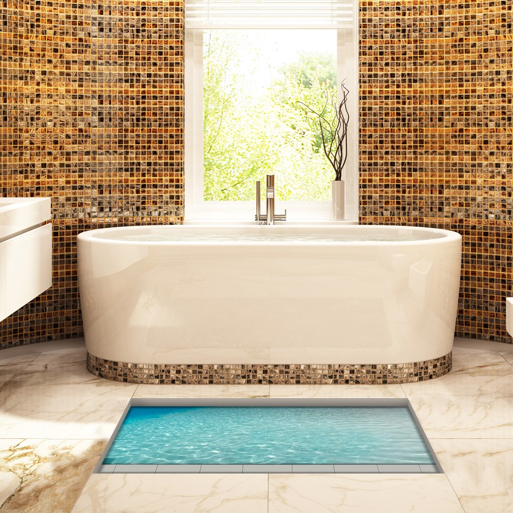 3d Floor Stickers Waterproof Bath Mat No Slip Home Decorative Mat Buy Decorative Mat No Slip