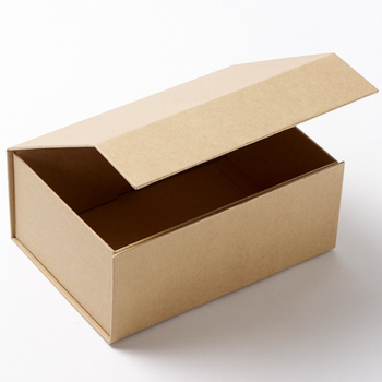 Recyclable natural brown kraft paper A5 deep gift box