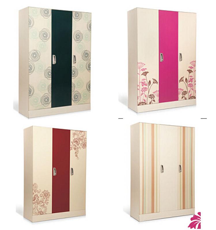 Cheap india office bedroom 3 door dressing wardrobe design for Bedroom almirah designs india