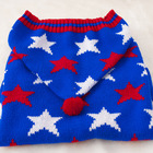 Designer Dog Apparel Sweater Pet Party Star Clothes Large Size Big Dog Clothes