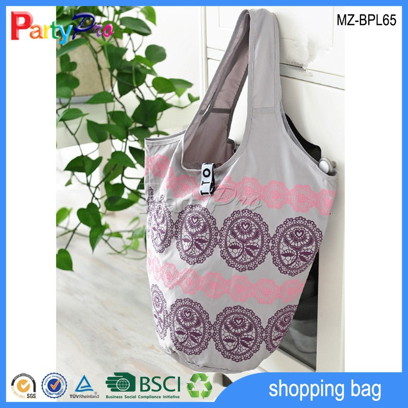 Hot Sale Promotional Different Patterns Waterproof Tote Bag Polyester Foldable Shopping Bag