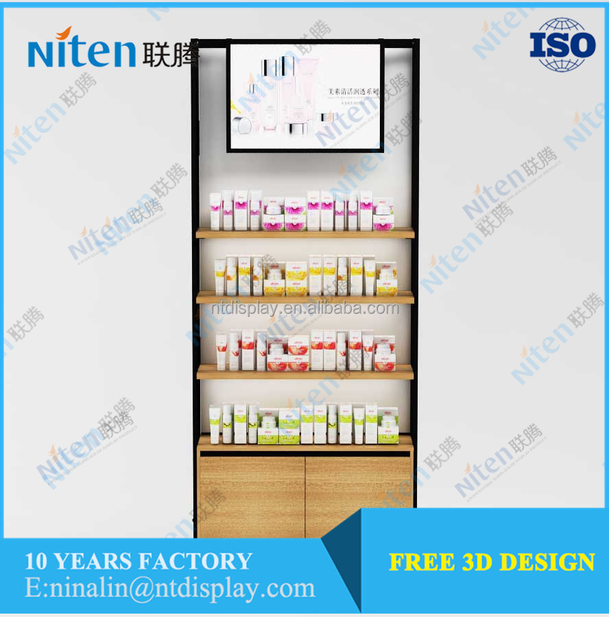 Korean Style Cosmetic Store Display Fixture Store Furniture