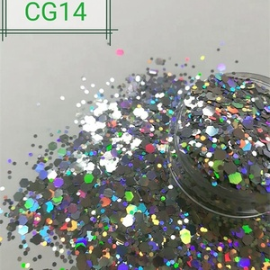 Bulk cosmetic chunky diamond holographic glitter powder
