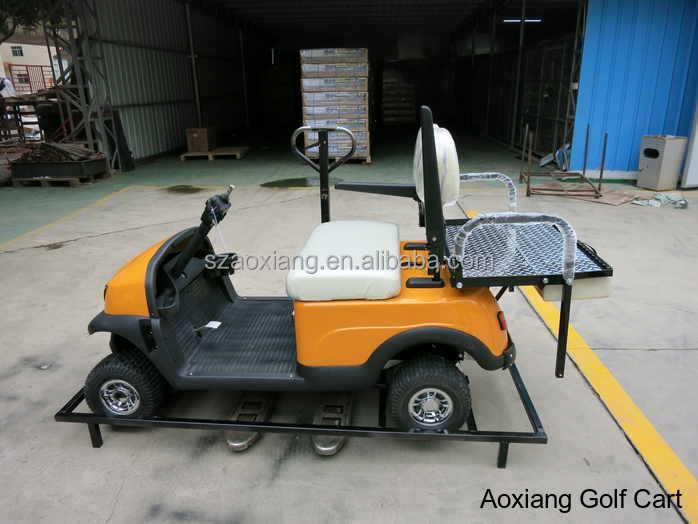 deux places voiture lectrique avec sac de golf support ou bo te de chargement chariot de golf. Black Bedroom Furniture Sets. Home Design Ideas