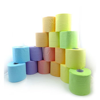 Cheapest Colored embossed Toilet Tissue Paper