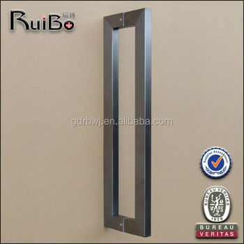 RB 2325 Square Tube Black Chrome Satin Nickel Entrance Glass Door Handle